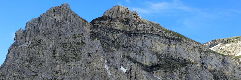 Große Faltenstrukturen im Unterostalpin am Wildsee